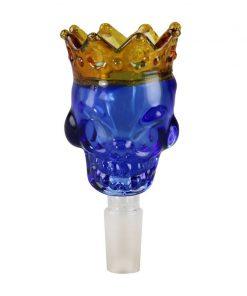 Crowned Skull Glass Slide